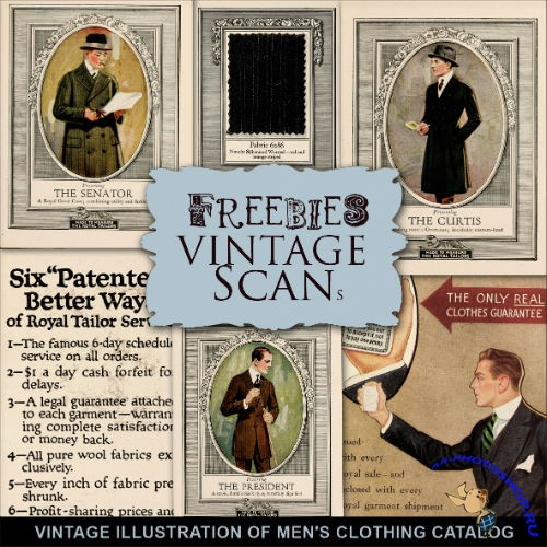 Scrap-kit - Vintage Illustrations Of Men's Clothing Catalog