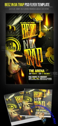 Beez in da Trap Flyer/Poster PSD Template