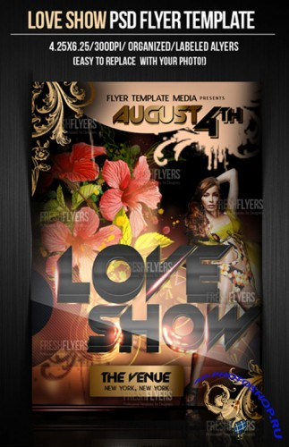 Love Show Flyer/Poster PSD Template