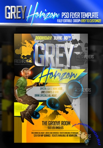 Grey Horizon Flyer/Poster PSD Template