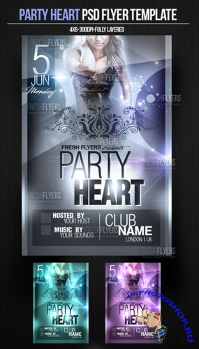 Party Heart Flyer/Poster PSD Template