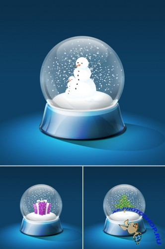 Snow Globe PSD Template