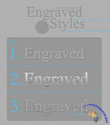 Engraved Photoshop Styles