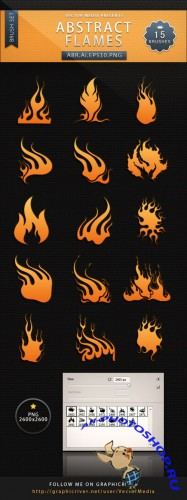 Abstract Flames Brushes and Vector Set