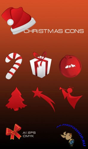 Christmas Icon Vectors REUPLOAD