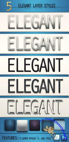 5 Elegant Layer Photoshop Styles REUPLOAD