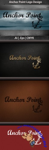 Anchor Point Logo Vector Template REUPLOAD