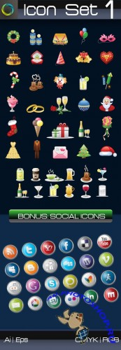 Icon Vectors + Bonus Pack #1