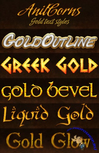 Gold Photoshop Styles