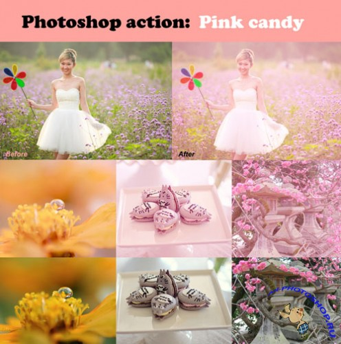 Pink Candy Photoshop Actions