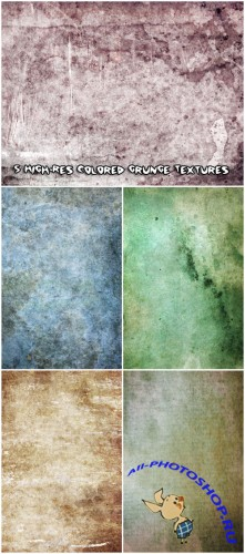 5 High-Res Colored Grunge Textures