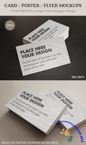 Card Flyer Mock-Ups PSD Template