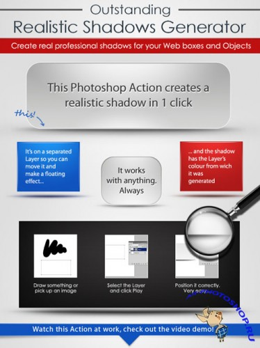 Realistic Shadow Generator Photoshop Actions