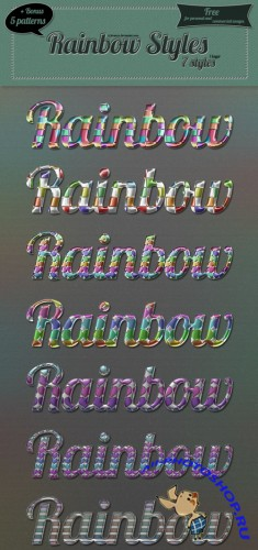 Rainbow Photoshop Styles