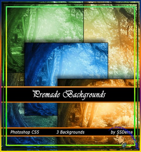 3 Premade Backgrounds Pack