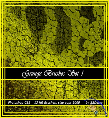 Grunge Texture Photoshop Brushes #1