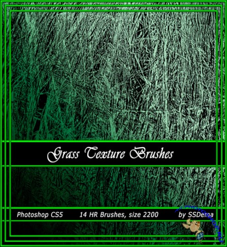 Grass Texture Photoshop Brushes