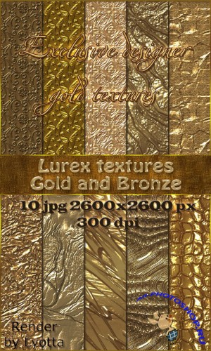 Gold and Bronze Shiny Gold Textures