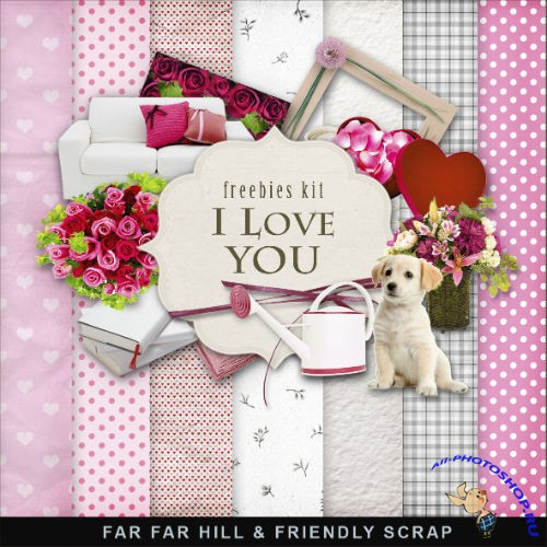 Scrap-set - I Love You - Valentines Day 2013