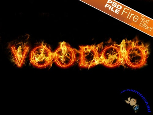 Fire Text Effect PSD Template
