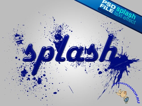 Splash Text Effect PSD Template