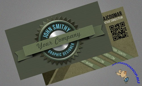 Deluxe Badge Business Cards PSD Template