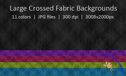 Large Crossed Fabric Backgrounds