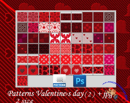 Valentine's Day Photoshop Patterns #2