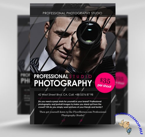 Photography Party Flyer/Poster PSD Template #1