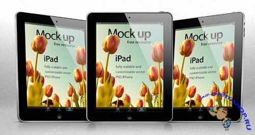 iPad Vector Mockup PSD Template #1