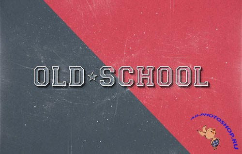 Old School Retro Text Effect PSD Template