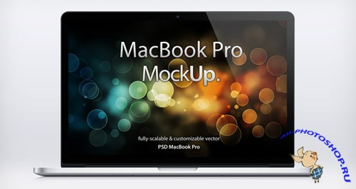 MacBook Pro Retina Mockup PSD Template