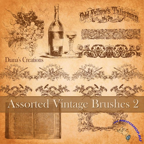 Assorted Vintage Photoshop Brushes #2