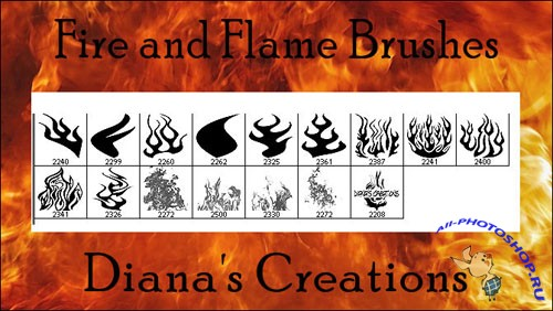 Fire and Flame Photoshop Brushes