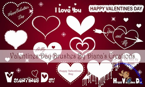 Valentine Day Photoshop Brushes
