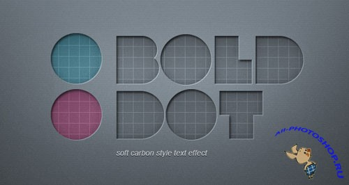 Soft Carbon Text Effect PSD Template