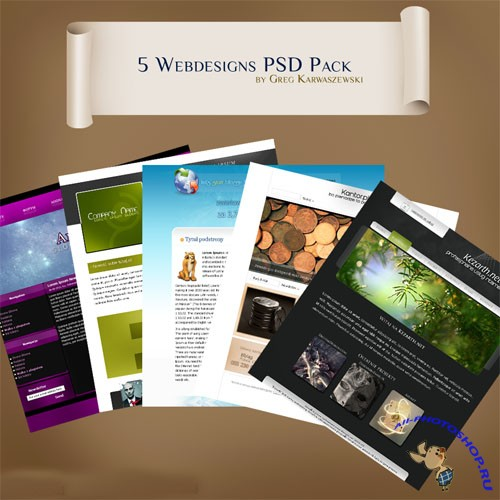 5 Webdesigns PSD Template