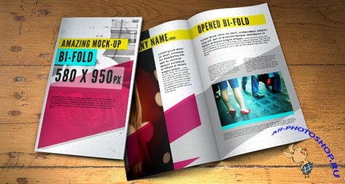 Bifold Brochure Mock-Up PSD Template