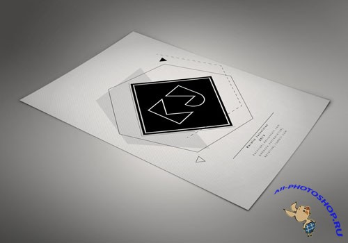 Format Paper Mockup PSD Template