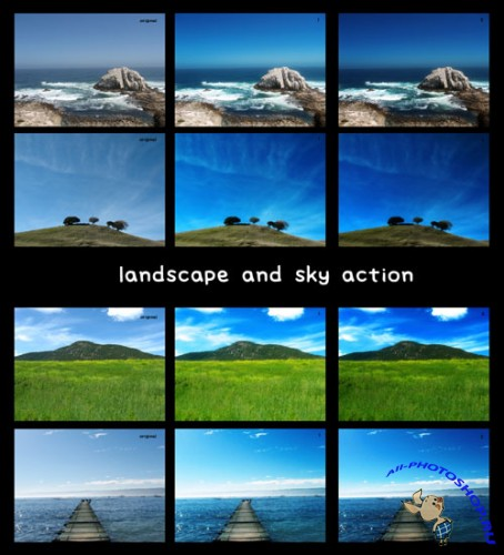 Landscape and Sky Photoshop Actions