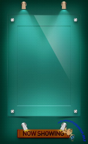 Acrylic Poster Frame PSD Template