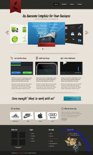 Fix Website PSD Template