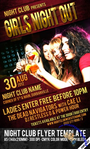 Night Club Party Flyer/Poster PSD Template