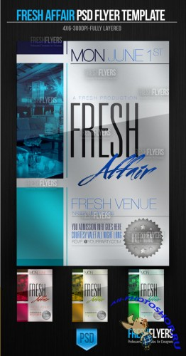 Fresh Affair Party Flyer/Poster PSD Template