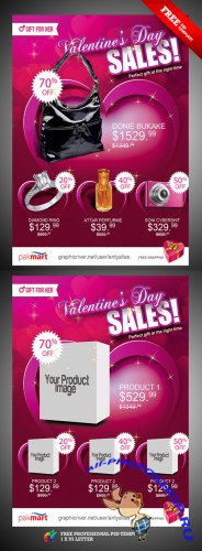 Valentine Day Sale Flyer/Poster PSD Template