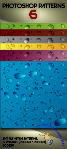 Water Drop Photoshop Patterns