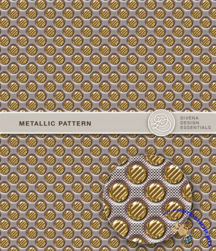 Golden Metallic Photoshop Patterns
