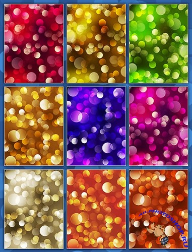 Color Bokeh Backgrounds Pack #1