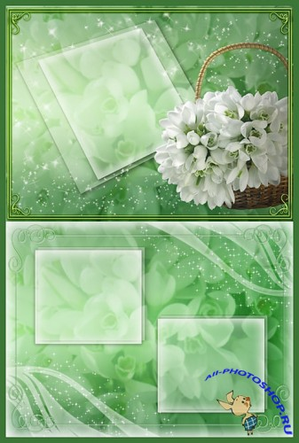 Floral Romance Snowdrops PSD Template
