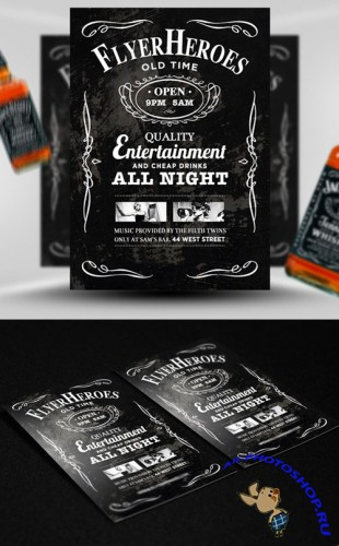 Whiskey Party Flyer/Poster PSD Template